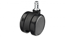 Black 65mm Twin Hard Wheel Caster - N44810 photo